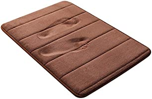 "Bath Rug Memory Foam Bath Mat Absorbent Bathroom Rug Non Slip for Bathroom Floor 20""x32"",Coffee"