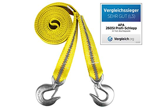 APA 26050 - Soga para remolcar con mosquetón (hasta 4 toneladas)