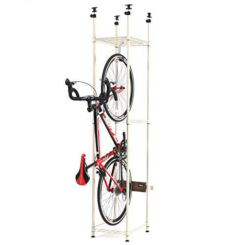 DOPPELGANGER(ドッペルギャンガー) 【バイシクルハンガースリム】40×50cmあれば設置可能 省スペース 簡単設置 効率収納 転倒防止8点固定 耐荷重30kg 自転車スタンド DDS560-BG