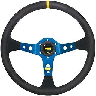 OMP OMPOD/1954/BN Corsica Leather Steering Wheel Back, Black/Blue