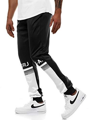OZONEE heren joggingbroek broek sportbroek trainingsbroek vrijetijdsbroek motief herenbroek sweatpants fitnessbroek sweatbroek voetbalbroek joggpants joggpants JS / AM122Z