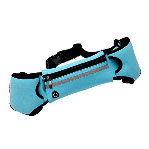 LYFLYF Marathon Ceinture Téléphone Portable Sport Hommes Et Femmes Course à Pied Ultra-léger Personnel Sécurité Sac Fourre-Tout,Blue