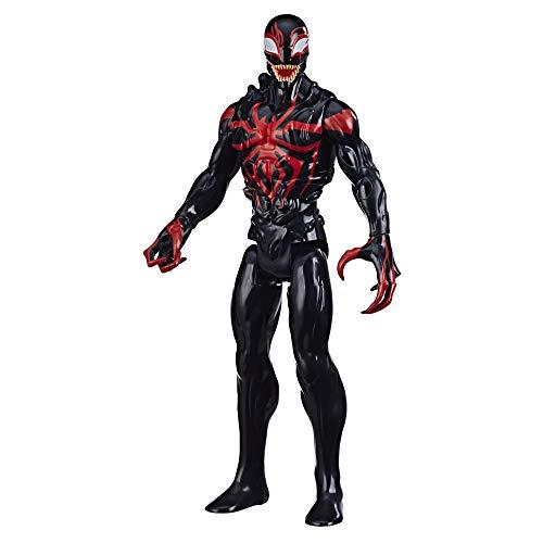 Hasbro Spider-Man Maximum Venom Titan Hero Miles Morales Action-Figur, inspiriert durch das Marvel Universe, Blast Gear-kompatibler Rücken-Port, ab 4 Jahren