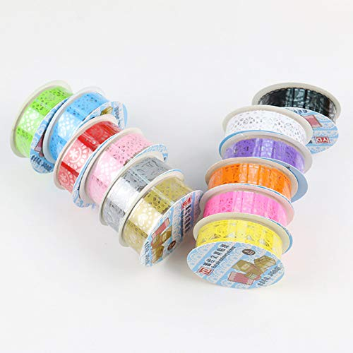 TX Spitze Tape, Dekorative Washi Klebeband, Farbige Klebeband, DIY Scrapbook Self Adhesive Lace Tape