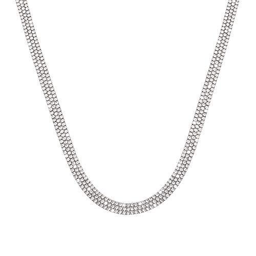 Stroili - Collana multifilo in metallo rodiato con strass per Donna