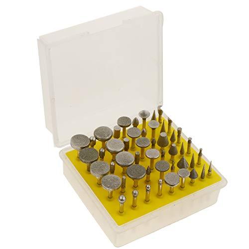 oshhni 50 Unidades de Formatos Variados Rebarbas Revestidas com Diamante para Rebarbação de Ferramenta Rotativa