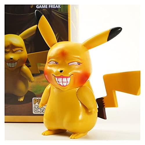 HCKLYTN Pokemon Toys Pikachu Kuso Edición Pokémon Figuras Regalos de Anime para Pokemon Fidget Spinner 12 cm P