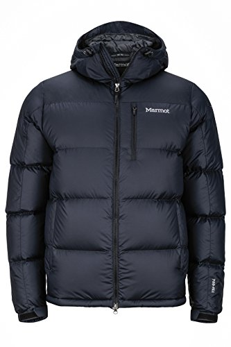 Marmot Herren Guides Down Hoody Ultra-leichte Daunenjacke, 700 Fill-Power, Warme Outdoorjacke Mit Kapuze, Wasserabweisend, Winddicht , Black , M