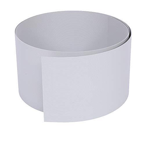 Rapid Teck® 10x Premium Hart-PVC Sichtschutzstreifen Hell-Grau RAL 7040 Zaun Sichtschutz für Doppelstabmattenzaun Zaunblende - sehr stabil - Keine Folie - 19cm Höhe x 2,525m Länge