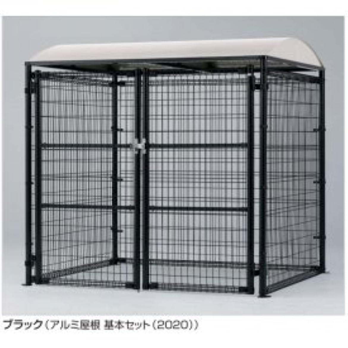 孤児エンドテーブル沼地四国化成 ゴミストッカー LMF10型(アンカー式?メッシュ屋根) GSM10-MA4020WH ホワイト