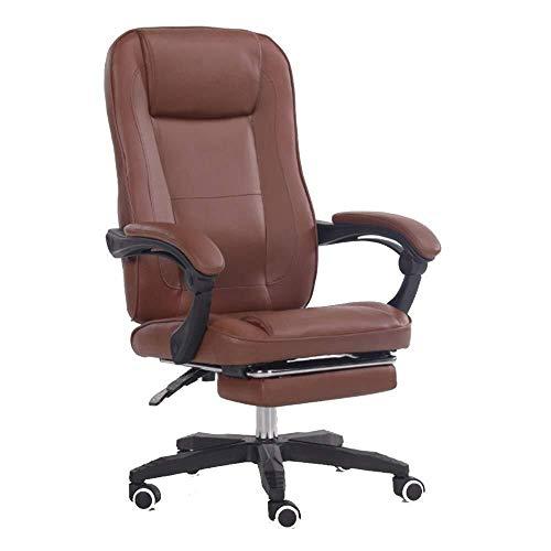 Sedia da Gioco Sedia Gaming Chair Poltrone computer comoda sedentario Home Gioco girevole E-sports Sollevare Boss Ufficio pigro (Color : Brown)