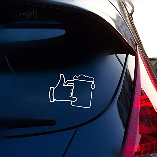 Dkisee Aufkleber Bierglas und Hand Auto Vinyl Aufkleber Grafik Dekoration für Auto Laptop Fenster Vinyl Aufkleber 20,3 cm