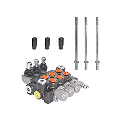 findmall Hydraulic Valve Hydraulic Directional Control Valve Double Acting Valve 3 Spool 13 GPM 3600 PSI SAE Ports for Small Tractors Tractors Loaders Log Splitters by findmall