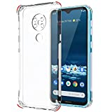 TheGiftKart Best Camera Protection Back Cover Case for Nokia 5.3 | Transparent Ultra Clear Soft Case | Slim & Protective Design | Inbuilt Dust Plugs & Anti-Slip Grip (Transparent)