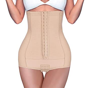 BRABIC Postpartum Girdle High Waist Control Panties for Belly Recovery Compression Butt Lifter Slimming Underwear  Beige S  Waist 23.6 -25.9