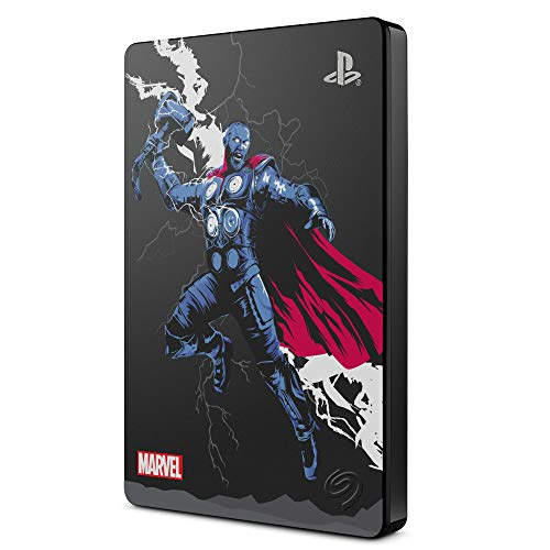 Seagate Game Drive pour PS4 - Avengers Special Edition - Thor, 2 To, Disque Dur Externe Portable (STGD2000204)