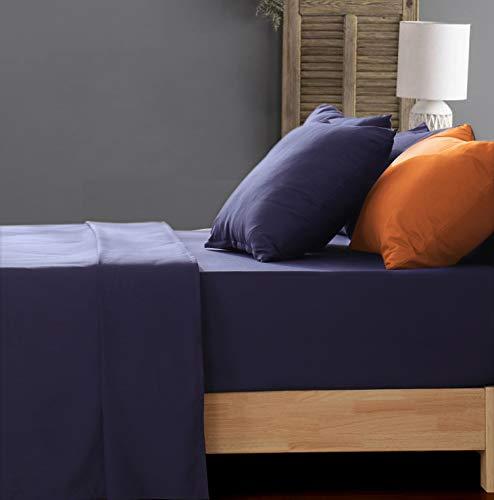 Aisbo - Juego de sábanas con Funda de Almohada, Cama Individual, 50 x 80 cm, Azul
