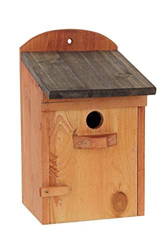 GardeTech budka lęgowa BL10p / d czarny dach  Budka dla ptaków wykonana z odpornego na warunki atmosferyczne drewna iglastego  dla małych ptaków  