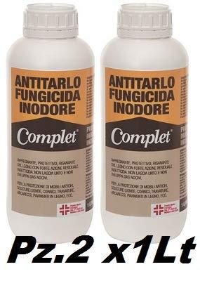 Antitarlo Fungicida COMPLET 1L - 2 Flaconi Soluzione Attiva Per L'Eliminazione Di...
