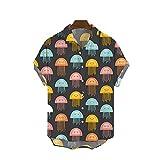 SSBZYES Chemise pour Hommes Chemise à Manches Courtes pour Hommes D'été Chemise Grande Taille pour Hommes Chemise Imprimée à Revers Floral pour Jeunes Et Grandes Tailles