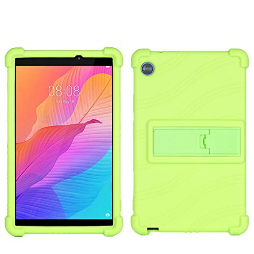 QYiD Galaxy Tab A 10.1 Case 2019 SM-T510/SM-T515, Light Weight Silicone Kids Friendly Soft Shock Proof Protective Cover Case for Samsung Tab A 10.1 Inch Tablet SM-T510/SM-T515 2019 Release, Green