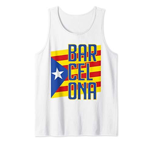 Barcelona Catalonia Flag Estelada Blava Soccer Jersey Style Tank Top