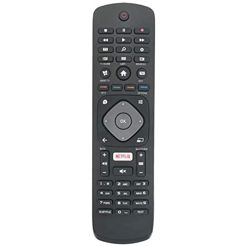 ALLIMITY 996596003606 Fernbedienung Ersatz für Philips 4K UHD HDR TV 32PFS5362 43PFS5301 32PFS5803 43PFS5302 43PUH6101 43PFT5302 43PUS6101 43PUS6162 43PUS6201 43PUS6262 43PUT6101 49PFS5301 43PUT6162