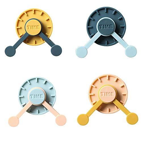 4 ganchos creativos de colores mixtos para colgar ropa en la pared, giratorio, fuerte y multifuncional, para decoración del hogar