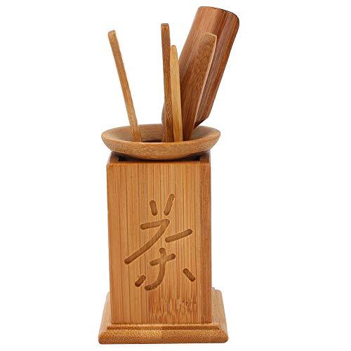 Wosune Juego de té Natural Profesional, Juego de té de Kung Fu, decoración del Juego de té, Respetuoso con el Medio Ambiente para el hogar, incluida la Cuchara de té, etc, Regalo para la Familia