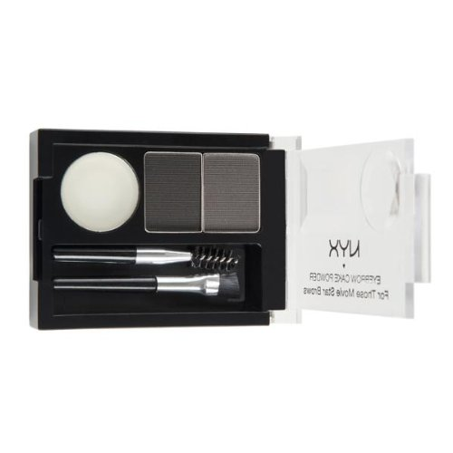 NYX Eyebrow Cake Powder, Black/Gray