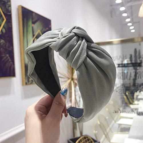 Tony plate Accessoires pour Cheveux Bohème Multicolore Satin Centre Noeud Bandeau Large Bandeau Noué Accessoires Cheveux-Vert Émeraude
