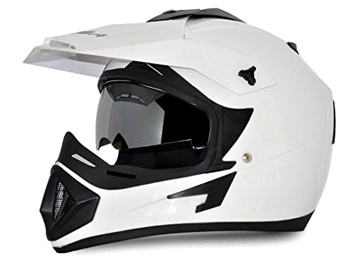 Vega Off Road OR-D/V-W_M Full Face Motocross Helmet (White, M)