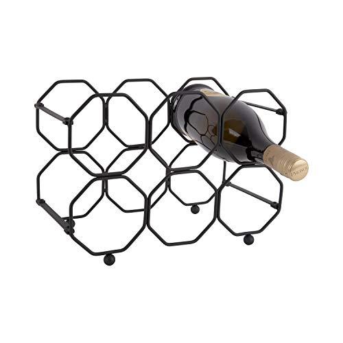 Present time - Porte bouteilles vertical noir pliable HONEYCOMB