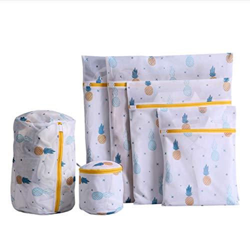 QIMMU Wäschenetze Wäschebeutel Wäschesack für die Waschmaschine Haltbarer Netz-Wäschebeutel mit Reißverschluss für Feinwäsche Unterwäsche Feines und Socken(6er Set)