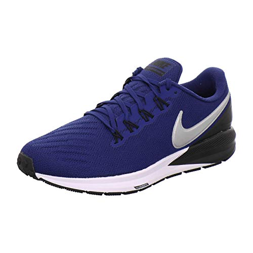 Nike Herren AIR Zoom Structure 22 Traillaufschuhe, Mehrfarbig (Coastal Blue/Chrome-Black 406), 42 EU