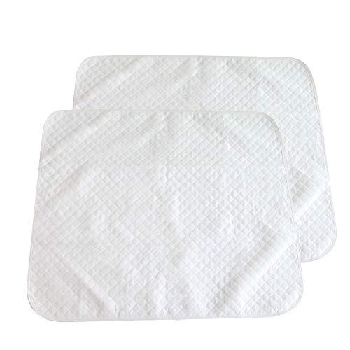 PX Home Baby Matratzenschoner, Wasserdichte Matratzenauflage Auflage Inkontinenzauflage Inkontinenz-Bettschutzeinlage Waschbar Matratzenschutz,weiß, 2 Stücke(45 x 35 cm)