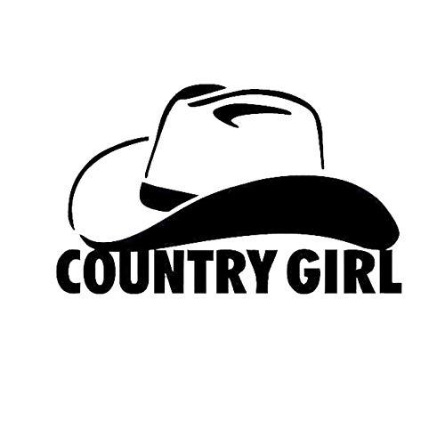 WYLD Auto stickers Land meisje Cowgirl Cowboy hoed grappige auto Vinyl Sticker sticker reflecterende Truck raamstickers