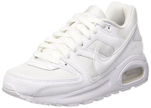 Nike Air MAX Command Flex (GS), Zapatillas Hombre, Blanco White White White, 36.5 EU
