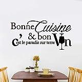 ufengke Stickers Muraux Cuisine Bonne Cuisine Autocollants Mural Citations pour Chambre Salon Bureau Décoration Murale