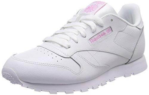 Reebok Classic Leather Metallic, Zapatillas de Deporte Mujer, Blanco (White 000), 37 EU