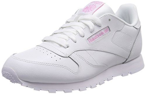 Reebok Classic Leather Metallic, Zapatillas de Deporte Mujer, Blanco (White 000), 38 EU