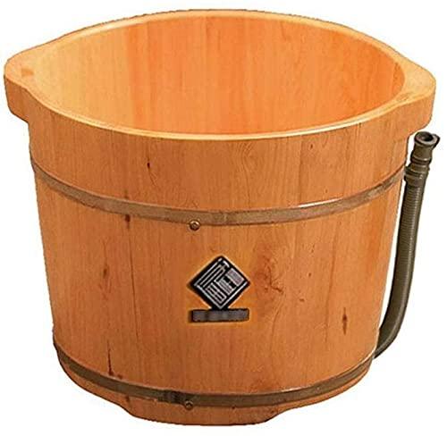 Pedicure Bowl Vasca per pedana in legno, barilotto per il piede, fotogne per la casa, footbath per la casa, secchio per il massaggio del piede rilassante, il dolore fatica rilievo del piede di lavaggi