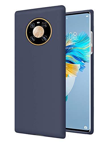 RZANTS Liquida Silikon Sanft Hülle Kompatibel mit Huawei Mate 40 Pro,Ganzkörperschutz Shockproof Cover Hülle Fallschutzhülle für Huawei Mate 40 Pro Handy HandyHülle (Navy)