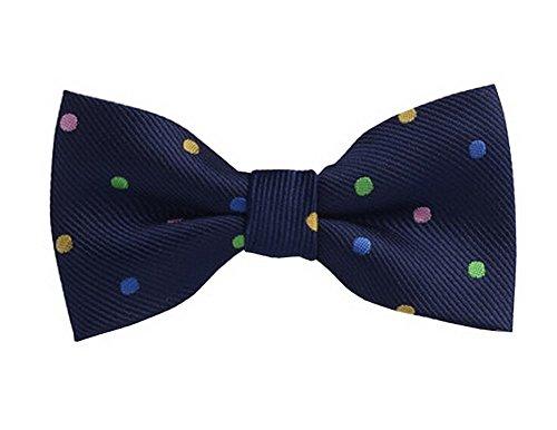 Mode Conçu nœud papillon de cou réglable Garçons Bow Tie [Spots multicolores]