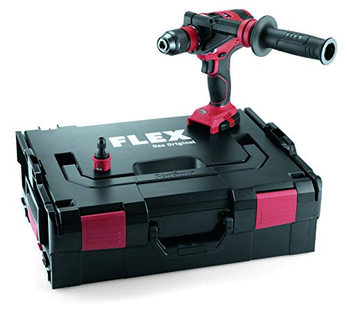 Flex 447765 Taladro Atornillador inalámbrico DD 4G 18.0-EC (4 Marchas, 18 V, 2,5/5 Ah, 64/135 NM, portabrocas de 1,5-13 mm) sin batería
