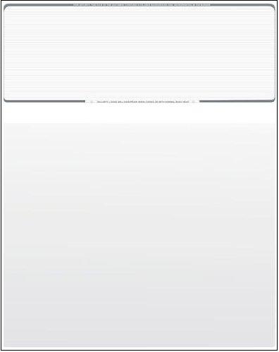 100 Blank Check Stock - Check on Top - Platinum Pinstripe -