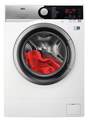 AEG L6SE72475 Kompakte Waschmaschine mit nur 490 mm Tiefe / 7,0 kg / Leise / Mengenautomatik / Kindersicherung / Allergiker freundlich / Wasserstopp / 1400 U/min