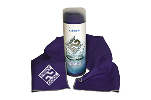 Toalla de enfriamiento de microfibra Way 2 Cool número 1 en ventas, Púrpura
