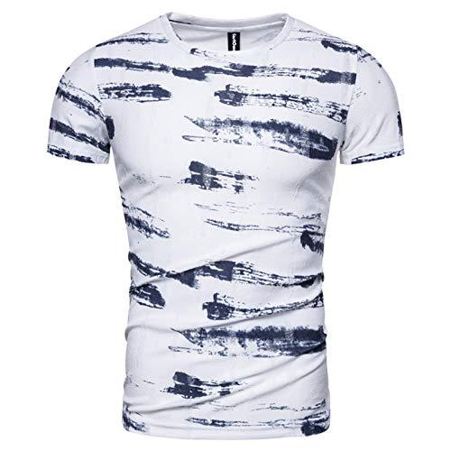 SSBZYES T-Shirt da Uomo T-Shirt Stampata da Uomo T-Shirt da Uomo a Maniche Corte T-Shirt Estiva da Uomo Casual in Cotone a Maniche Corte Graffiti T-Shirt da Uomo Tendenza Commercio Estero