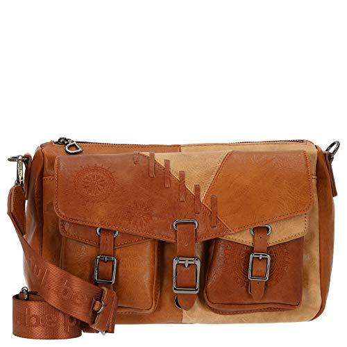 Desigual Womens PU ACROSS BODY BAG, Brown, U
